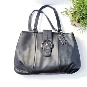 Coach Black leather medium size Hobo shoulder bag